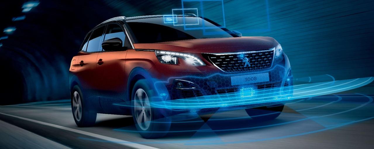 SUV PEUGEOT 3008 HYBRID4 : Sécurité et aides à la conduite